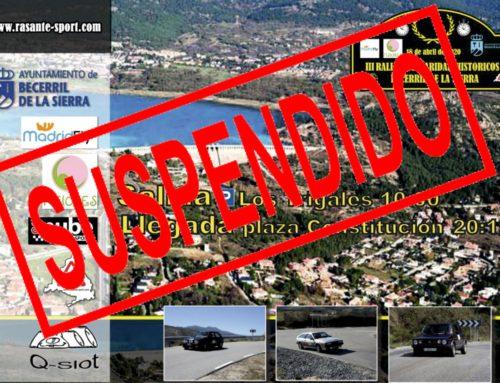 Nueva Fecha III Rallye de Becerril de la Sierra